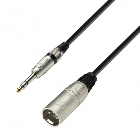 XLR male - 6.3 mm Jack stereo 10m Adam Hall
