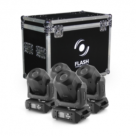 4x LED Moving Head 90W DIAMOND - ROTO PRISM 2x GOBO (SET)