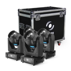 4x LED MOVING HEAD 150W 2-31° AUTO FOCUS, ROTO PRISM (SET)