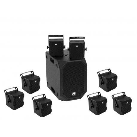 OMNITRONIC Set BOB-10A bk + 8x BOB-4 bk