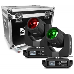 BeamZ TIGER 7R HYBRID MOVING HEAD KIT 2 PIECES IN FLIGHTCASE