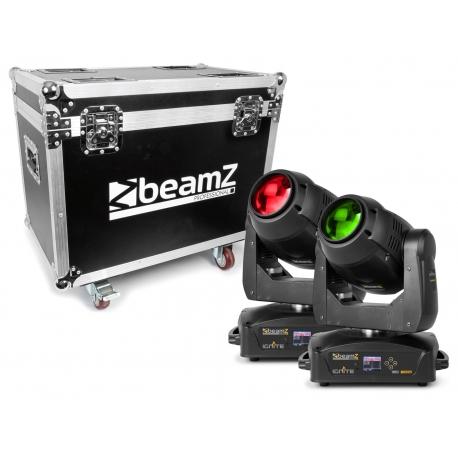 BeamZ IGNITE180B LED BEAM MOVING HEAD 2 PIECES IN FLIGHTCASE