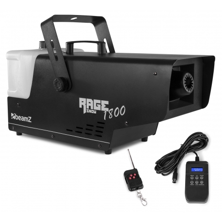 BeamZ Rage 1800 Snow Machine with Wireless and Timer Controller