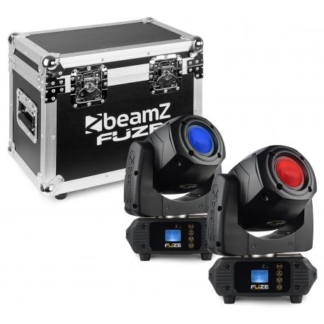 BeamZ Fuze75S Spot 75W LED Moving Head Set 2 Pieces in Flightcase