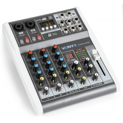 VONYX VMM-K402 4-Channel Music Mixer with DSP