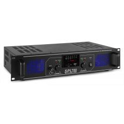 Skytec SPL 700MP3 AMPLIFIER BLUE LED + EQ BLACK