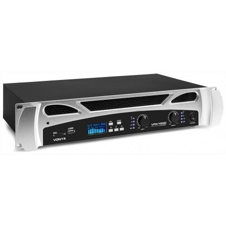 VONYX VPA1000 PA Amplifier 2x 500W Media Player with BluetoothVPA1000 PA Amplifier 2x 500W Media Player with Bluetooth