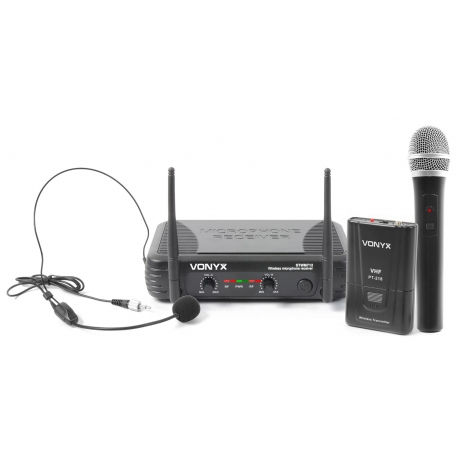 VONYX STWM712C VHF Microphone System 2-Channel Combi