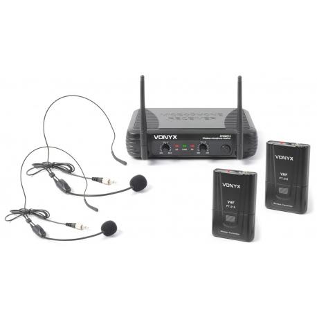 VONYX STWM712H 2-Channel VHF Wireless Headset Microphone System