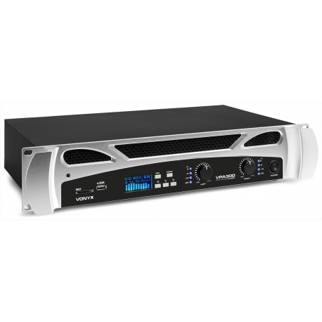 Vonyx VPA300 PA Amplifier 2x 150W Media Player with Bluetooth