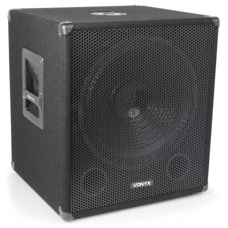 "Vonyx SMWBA15 Bi-Amplifier Subwoofer 15"" 600W"