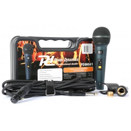 PDM661 Dinaminis vokalinis mikrofonas su dėklu