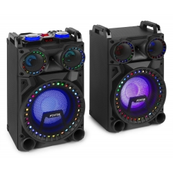 "FENTON VS10 Active Speaker Set 10"" BT, LED 800W"