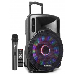 "Fenton FT15LED Portable Sound System 15"" 800W"