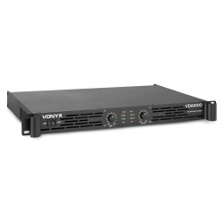 Vonyx VDA1000 PA Amplifier 1U 2x 500W