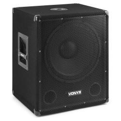 VONYX SMWBA15MP3 Bi-AMP Subwoofer 15inch/600W & BT